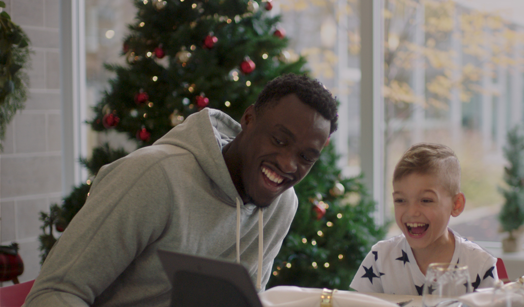 NBA Champion Pascal Siakam helping keep families at Ronald McDonald House Toronto connected via a video call